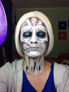 White walker game of thrones #halloween #makeup #whitewalker #gameofthrones