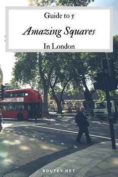 Discover 5 wonderful squares in London, a self-guided walking tour of Bloomsbury and Fitzrovia, with a stop for coffee and more. #cityguided #London #itinerary #walkingtour