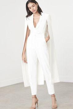 Off White Tailored Cape Jumpsuit – Lavish Alice Cape Jumpsuit, Jumpsuit Outfit, Cape Dress, Dress Up, White Jumpsuit, Formal Jumpsuit, Elegant Jumpsuit, Fancy Dress, Womens Fashion