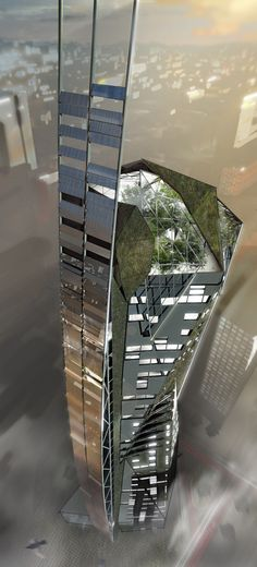Eco Tower by Pavlo Kryvozub #architecture                                                                                                                                                                                 Más