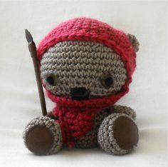 Ewok Teddy Bear Crochet Amigurumi Pattern by PatternsbySarah