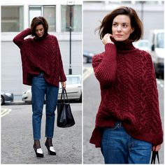 Get this look: http://lb.nu/look/2543317  More looks by Hedvig ...: http://lb.nu/northern  Items in this look:  Zara Knit, Cos Jeans, Céline Bag, Céline Shoes