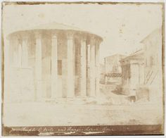 Temple of Vesta and Rienzi's House, Rome 1846, February - March (ca)