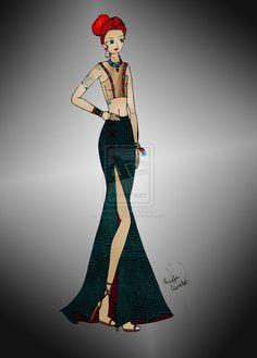 A fashion warrior queen - illustration by RaffaSanches on deviantART