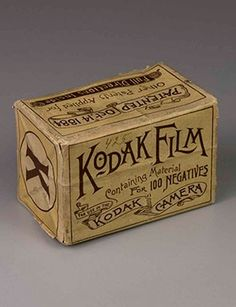 the only known box of Kodak Film for use in the Kodak camera (sometimes called American Film), introduced by the Eastman Dry Plate and Film Company in 1888