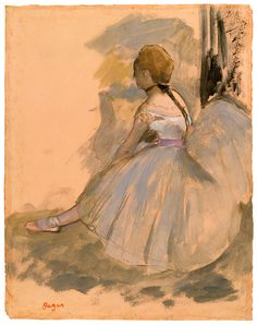 The Morgan Library & Museum Online Exhibitions - Degas: Drawings and Sketchbook - Edgar Degas - Seated Dancer