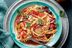 Slow-Cooker Chicken Cacciatore with Spaghetti - Fall Slow-Cooker Recipes…