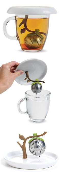Fascinantes inventos para los amantes del té Tree branch tea infuser // The attached saucer catches all the drips!Tree branch tea infuser // The attached saucer catches all the drips! Cool Inventions, Gadgets And Gizmos, Cheap Gadgets, Awesome Gadgets, Usb Gadgets, Technology Gadgets, Tea Infuser, My Tea, Cool Stuff