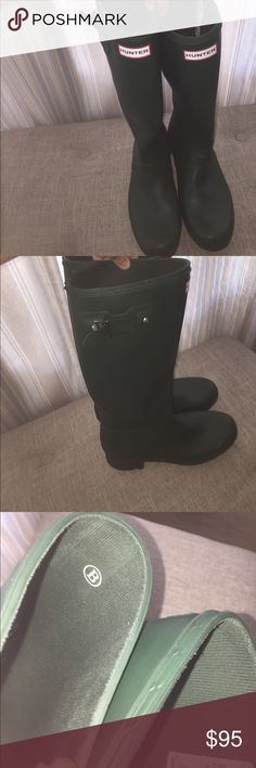 Hunter BLM Forest Green Women's Boots, 11M Never worn Hunter Rain Boots!! Adjustable strap on the side as shown in picture. Hunter Boots Shoes Winter & Rain Boots