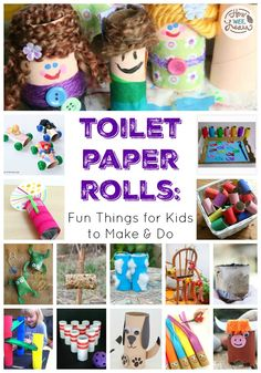 Toilet Paper Rolls: Fun Things for Kids to Make & Do - How Wee Learn Recycled Crafts Kids, Easy Crafts For Kids, Projects For Kids, Fun Crafts, Craft Projects, Nature Crafts, Simple Crafts, Craft Ideas, Activity Ideas