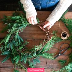 #Christmas_wreath #christmas #decoration #DIY