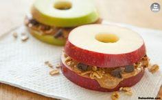 Apple Peanut Butter Sandwich.. #theteadetox #detox #diet