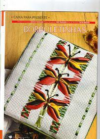 Eu Amo Artesanato: Bordado com fitas de borboletinha passo a passo