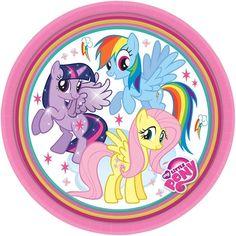 My Little Pony | MLP | Twilight Sparkle 18cm Dessert Party Paper Plates 1-48pk