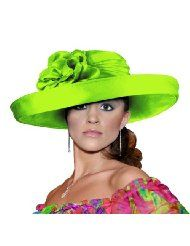 Kentucky Derby Hat with Brim - 47100 Lime