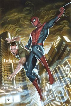 Marvel Amazing Spider-Man MaximuM variant by Adi Granov * Comic Movies, Comic Book Characters, Comic Book Heroes, Marvel Characters, Comic Character, Marvel Comics, Marvel Art, Marvel Heroes, Alex Ross