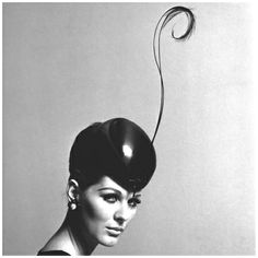 Pillbox Hat with Feather 1960s Photo John French
