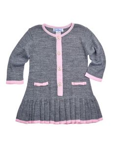 Florence Eiseman - Girls Sweater Knit Dress with Bows on Pockets