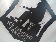 Metal Ice Fishing Wall Hanging for Your by HazelnutHillbySherri