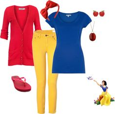 Snow white Outfit, created by teeg70 on Polyvore