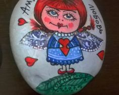 Painted Rocks, Hand Painted, Stone Painting, Rock Painting, Desk Accessories, Fantasy World, Rock Art, Color Splash, Decorating Your Home