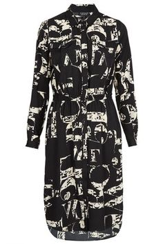 Letter Print Shirtdress by TopShop