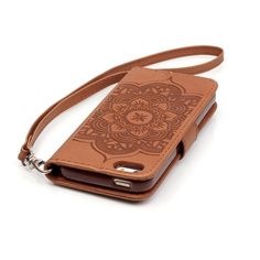 Shop4 - iPhone 5(s) Hoesje - Wallet Case Dromenvanger Bruin | Shop4Hoesjes