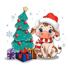 ЗАЯКНОП. Здесь живёт вдохновение. Cow Ornaments, Christmas Ornaments, Christmas Tree, Christmas Music, Christmas Holidays, Birthday Wishes For Kids, Cartoon Cow, Big Blue Eyes, Baby Clip Art