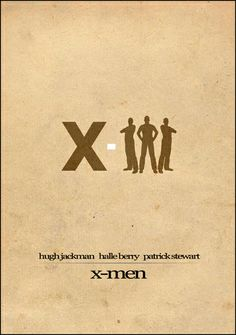 X-Men [Bryan Singer, 2000] «Minimalism Film Posters Art Author: Al Pennyworth»