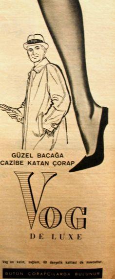 OĞUZ TOPOĞLU : vog de luxe 1963 nostaljik eski reklamlar