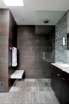 Modern Small Bathroom Design The Basic Components of Modern Bathroom Designs Modern Small Bathroom Design. Incorporating a modern bathroom design will give you a more … Cheap Bathroom Tiles, Modern Bathroom Tile, Cozy Bathroom, Simple Bathroom, Bathroom Ideas, Tiled Bathrooms, Man Bathroom, Bathroom Small, Master Bathroom