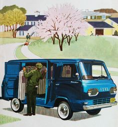 1962 Ford Econoline delivery van illustration.