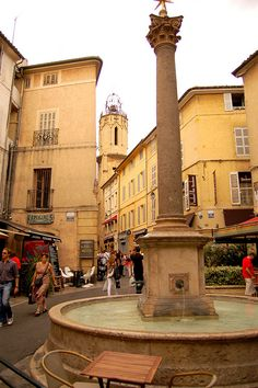 AIX-EN-PROVENCE, France - Beautiful town with its plane trees, rococo and century buildings, open-air markets, and outdoor cafes. Paul Cezanne had a studio here and painted many scenes of this town. Aix En Provence, Provence France, Bolivia, Belle France, Beaux Villages, Triomphe, Cities, French Countryside, Travel Memories