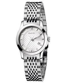 Gucci Watch, Women's Swiss G-Timeless Stainless Steel Bracelet 44mm YA126501 - Gucci - Jewelry & Watches - Macy's