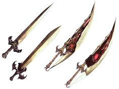Force Edge, Alistar and Sparda Sword. From Devil May Cry.