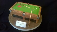 SNOOKER TABLE CAKE | Surprisingly difficult - took the whole… | Flickr