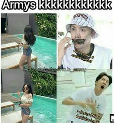 Eis que a genética é boa.... Bts Memes, Bts Meme Faces, Funny Memes, Foto Bts, Jung Hoseok, K Pop, Memes Status, Bts Video, I Love Bts