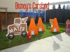 Disney's Carsland Birthday Party - tons of cute decor and fun game and activity ideas