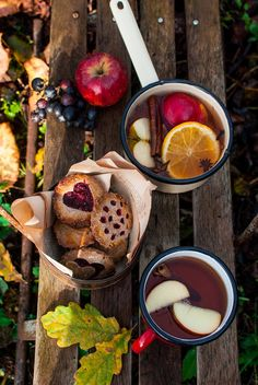 Cider. Apple. Cookies. Autumn photography.