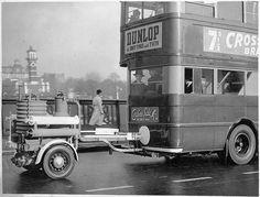 Unusual London bus, 2nd World War initiative as petrol was in short supply? #london.