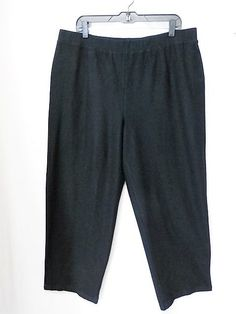 EILEEN FISHER WOMEN Sz 2X BLACK CREPE STRAIGHT PANTS IN GREAT CONDITION #EileenFisher #CasualPants
