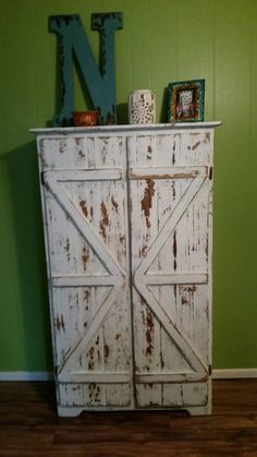 Reclaimed wood pantry/storage cabinet