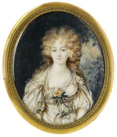 Portrait of a Woman signed by Gudules, France, 18th Century