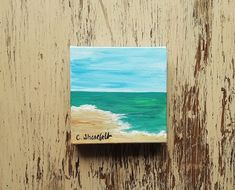 Beach painting Ocean painting Seascape painting Coastal painting Beach house art Nature painting Under 50 dollars Free shipping US Seascape Paintings, Nature Paintings, Your Paintings, Original Paintings, Watercolor Cards, Watercolor Flowers, House Art, Art Nature, House Painting