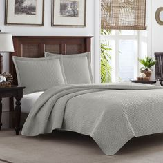 Tommy Bahama Pelican Gray Chevron 3-piece Quilt Set - Overstock Shopping - Great Deals on Tommy Bahama Quilts