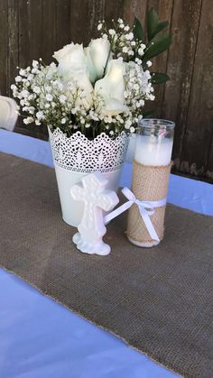 Zeke's baptism Ideas baby boy baptism centerpieces girls Bras - A Guide For Single Fathers Bras Girl Baptism Centerpieces, Baptism Table Decorations, Baptism Themes, Communion Centerpieces, First Communion Decorations, First Communion Party, Baptism Ideas, Rustic Centerpieces, Wedding Centerpieces