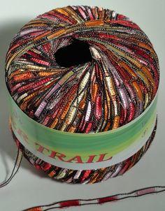 Glitter Trail Ladder Trellis Yarn col 321 Orange by JuliaLCraft, $4.40