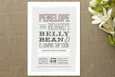 Jumping Jelly Bean Baby Shower Invitations by Froo... | Minted