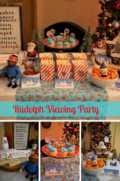 """Shine Bright: """"Rudolph the Red-Nosed Reindeer"""" Viewing Party Christmas Movie Night, Adult Christmas Party, Rudolph Christmas, Christmas Party Themes, Christmas Traditions, Christmas Holidays, Holiday Movies, Christmas Tables, Nordic Christmas"""