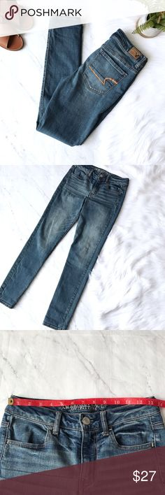 AEO high rise Jeggings Sz 4 super stretch jeans AEO high rise Jeggings . Sz 4. Great condition. American Eagle Outfitters Jeans Skinny